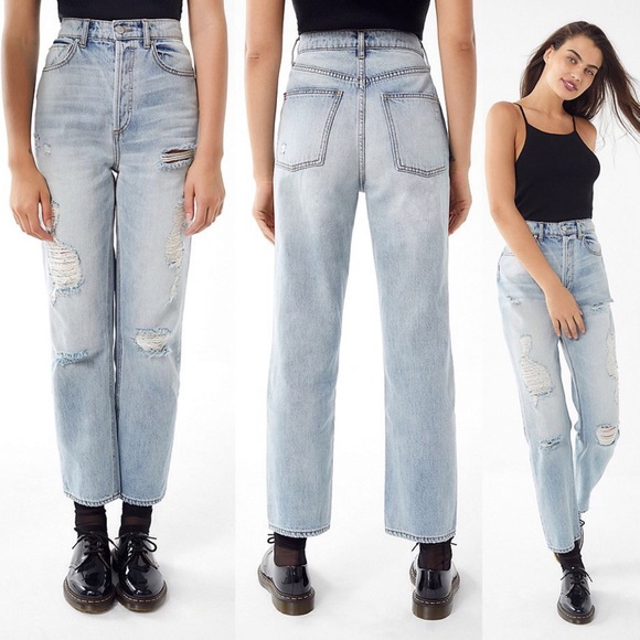 f4683f00 BDG High-Rise Destroyed Relaxed Straight Jean